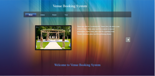 Online Venue Booking Application